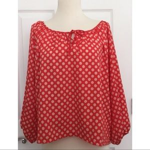 New Forever 21 Polkadot Top Size Large Red